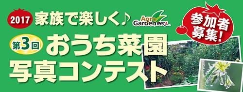 第3回 家族で楽しく♪おうち菜園 写真コンテスト参加者募集!